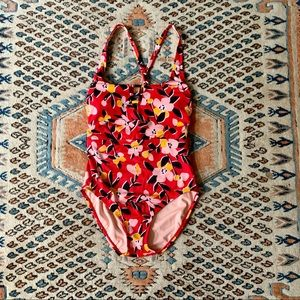 Miracle Brand Beach Betty Red Slimming One Piece